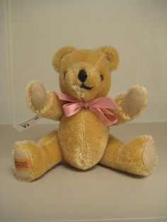 In my ETSY Shop: Merrythought Miniature Jointed Teddy Bear - Gold Mohair - 6 Inches Tall - A Beautiful Bruin :)