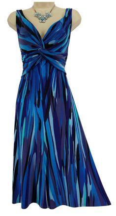 16 XL 1X SEXY Womens JONES NEW YORK ABSTRACT TWIST DRESS Stretch Plus Size #JonesNewYork #TwistFront #Versatile