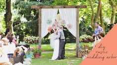Every wedding ceremony deserves a gorgeous backdrop, and a backyard wedding is no exception! Building a simple, rustic arbor yourself isn't difficult at all with this easy DIY project.