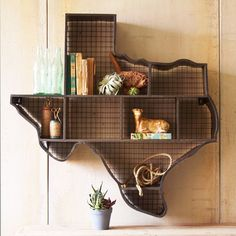Texas Wall Display Shelf | dotandbo.com