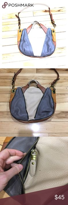 Or yani leather hobo cross-body beautiful Beautiful or yani crossbody messenger hobo leather tan gray and cream color beautiful bag excellent condition non-smoking home fast delivery at a great great price get it today or yani Bags