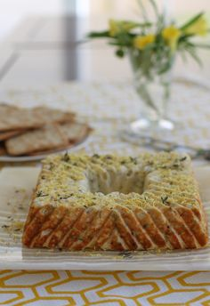 A cheesecake with a difference, this savory zucchini version is perfect sliced up and served on toasted bread or crackers. Banana Recipes, Cake Recipes, Savory Cheesecake, Indian Cake, Chocolate Strawberry Cake, Hazelnut Cake, Salty Cake, Banana Slice, Savoury Cake