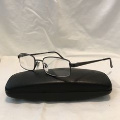 42138aa1cc Modern Daniel Prescription Eyeglass Frames Size  Color  Gunmetal Used  will  need new Prescription lenses Style  Unisex Rectangle Comes with Case as  shown