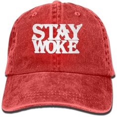 Amazon.com: Stay Woke Polo Style Classic Baseball Dad Hat For Women... (40 BRL) ❤ liked on Polyvore featuring men's fashion, men's accessories, men's hats, mens baseball hats, mens baseball caps, mens hats and mens ball caps