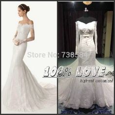 Find More Wedding Dresses Information about Free Shipping Off Shoulder Long Sleeve Lace Elegant Pakistani Facy Wedding Dresses ,High Quality wedding dress fishtail,China dress vest Suppliers, Cheap wedding dress white and black from 100% Love Wedding Dress & Evening Dress Factory on Aliexpress.com