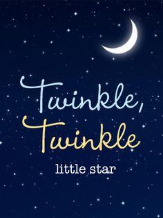 Twinkle Twinkle little star Shower Theme