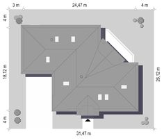 Willa Parkowa 6 on Behance House Plans Mansion, My House Plans, House Layout Plans, House Layouts, Modern Bungalow House, Modern House Design, Home Building Design, Building A House, The Plan