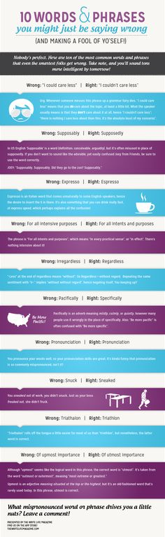 10 Words and Phrases You Might be Saying Wrong... :) Good to know!