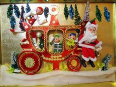 Lighted Santa Christmas Plaque Vintage by LuckyPennyTrading