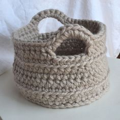 Chunky Crochet Basket: FREE pattern