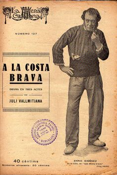 A la Costa Brava - Juli Vallmitjana -LA ESCENA CATALANA nº 127 - 14.04.1923