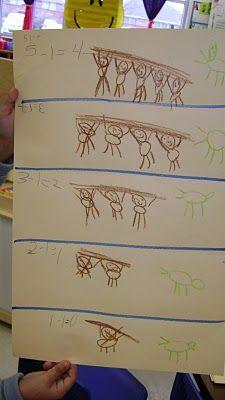 five little monkeys subtraction