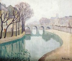 La Seine by Gaston Balande (French 1880-1971)