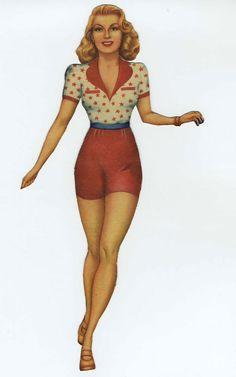 Lana Turner Paper Doll 2, 1940s.