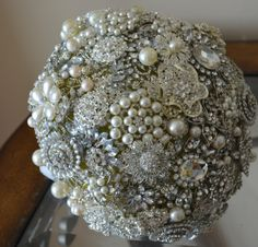Handmade Stunning wedding brooch bouquet by URUniqueWedding, $285.00
