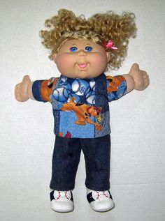 Cabbage Patch Doll  Scooby Doo Baseball Outfit 14 by Dakocreations, $22.99