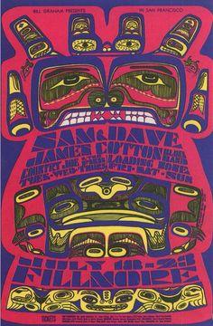 By Bonnie Mac Lean, 1 9 6 7,   Country Joe & James Cotton, Fillmore San Francisco.