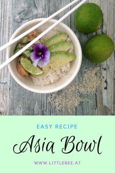 einfaches Rezept für eine Asia Bowl mit Huhn und Gemüse