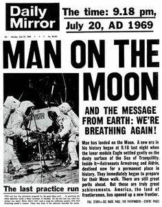 Moon Landing Newspaper Front Page
