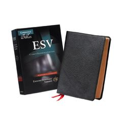 ESV Clarion Reference Edition ES486:XE Black Goatskin Leather by Baker Publishing Group http://www.amazon.com/dp/0521182913/ref=cm_sw_r_pi_dp_Et3nwb0Y1RD8J