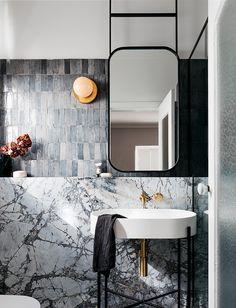 Blue & White Bathroom by Decus Interiors