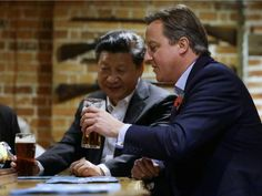 Chinese Business Chiefs Pay £12k For Dinner and Selfy With David Cameron