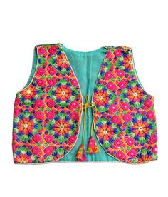 kutchi designer mirror hand embroidered jacket