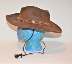 Vintage Minnetonka Buffalo Nickle Aussie Hat Aussie Hat, Mary Sue, Wall Candle Holders, Vintage Closet, Scarf Dress, Vintage Heart, Golf Shoes, Rockabilly