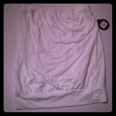 White banded bottom solid Tube Top Brand new with tags white tube style top. (B:6) SO Tops