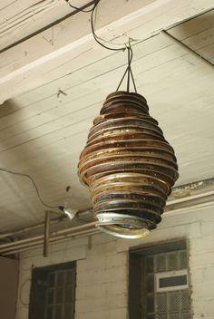 Creatieve #lamp van #fietsvelgen