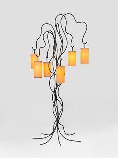 Jean Royère; Enameled Metal 'Liane' Floor Lamp, 1961.