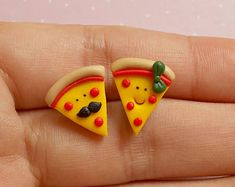 Pizza Earrings - Pizza Stud Earrings - Valentines Day Gift - Food Earrings - Food Jewelry - Pizza Lover Gift