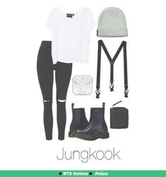 Read Jungkook inspired outfits from the story Outfits by dontstopreadingxox (Demons Queen) with 460 reads. Kpop Fashion Outfits, Fashion Mode, Grunge Outfits, Korean Outfits, Look Fashion, Korean Fashion, Casual Outfits, Girl Outfits, Summer Outfits