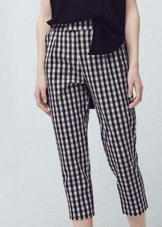 Check trousers -  Women   MANGO USA