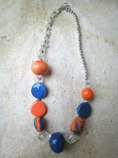 FL inspired - handmade clay beads professionally painted and fired - visit our Facebook page at Swirly Qs Jewelry