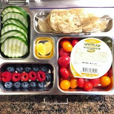 My daughter's @planetbox lunch for Wednesday is wholly guacamole with chips, mini heirloom tomatoes, cucumbers, blueberries, raspberries, and @haribousa ginger lemon gummies. Stay safe! #lunch #bento #bentobox #organic #organicfood #healthy #healthyfood #healthykids #healthylife #healthyeating #Healthyfamily #instafood #instagood #eatyourveggies #eattherainbow #cleaneats #cleaneating #healthychoices #picoftheday #foodpic #foodie #eeeeeats #feedfeed #yum #healthymeals #parentlife #momlife…