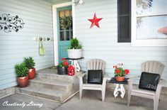 Creatively Living: Summer Back Entry....def painting my back door this color