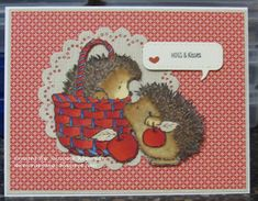 I Luv Scrapping Too: Hogs & Kisses - Color Dare Hog Pig, Colour Board, Color, Copic Sketch, What Inspires You, Penny Black, Brush Pen, Paper Background, Dares