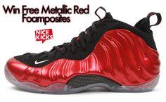 Win FREE Metallic Red Foamposites!