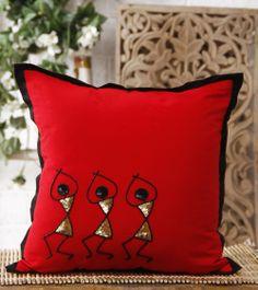 terracotta jewellery making kerala mural Cushion Embroidery, Hand Embroidery, Embroidery Designs, Diy Cushion, Cushion Covers, Pillow Covers, Diy Pillows, Cushions, Throw Pillows