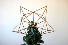 Etsy Is Fully Crushing It With These Cute Holiday Decorations #refinery29  http://www.refinery29.com/2016/11/130863/etsy-holiday-decorations#slide-18  Himmeli, traditional Finnish holiday decor that uses geometric shapes, goes with just about any Christmas tree. Morrison Makers Himmeli Christmas Tree Topper, $47, available at Etsy. ...