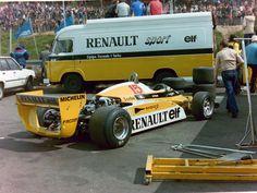 La dernière course de la Renault RE20B - Grand Prix de Belgique à Zolder en 1981 aux mains d'Alain Prost - F1 History & Legends.