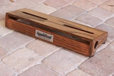 """GroundSwell """"Funboard"""" Pedalboard- 22x7; Walnut Stain. (Made-To-Order) 
