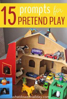 Indoor Activity Ideas:  Pretend Play Prompts