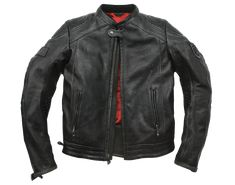 "This retro motorcycle jacket, dubbed ""The Mission Jacket"" is made from 1.1mm full grain cowhide, has pre-curved sleeves, perforated leather..Tarantino film."