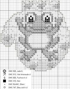Cross-stitch Christmas Froggy Mitten...    Anne les petites croix