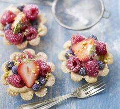 Mary Cadogan shows us how to make a classic French crème pâtissière – the perfect filling for these lovely summer fruit tartlets