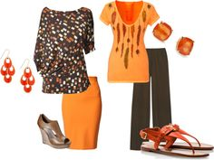 """""""Spring Orange - Not Just for Fall"""" by barbara-nonegativeoptions-gillespie on Polyvore"""