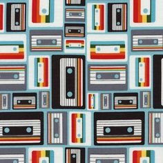Fabric... Geek Chic Cassette by Timeless Treasures
