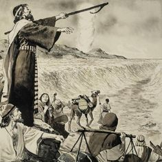 Moses and the Red Sea by Clive Uptton